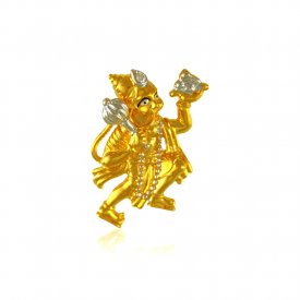 22 Karat Gold Hanuman Pendant ( Ganesh, Laxmi, Krishna and more )