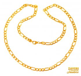 22 Kt Gold Figaro Chain