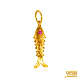 22 Kt Gold Fish Pendant ( Gold Fancy Pendants )