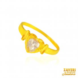 22kt Gold Baby Girl Ring ( 22Kt Kids Rings )