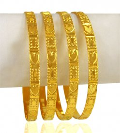 22 Karat Gold Bangle set(set of 4)
