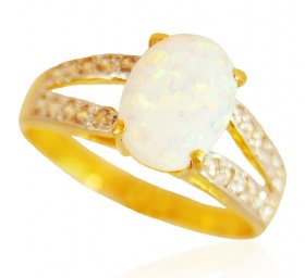 22KT Gold Opal Ring ( Gemstone Rings )