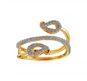18KT Yellow Gold Diamond Ring ( Diamond Rings (Ladies) )