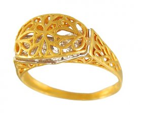 Gold Ladies Designer Ring ( 22K Gold Rings )