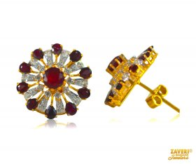 22 Kt Ruby Earrings  ( Gemstone Earrings )