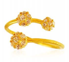 22 Karat Gold Adjustable Ring ( Stone Rings )