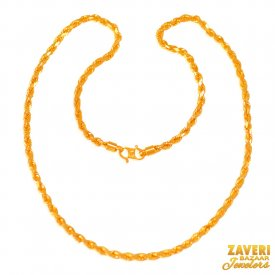 22 Karat Gold Rope Chain 20 In