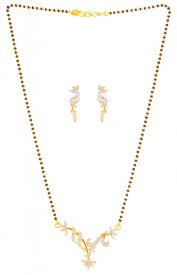 22K Fancy Signity Mangalsutra Set ( Gold Mangalsutra Sets )