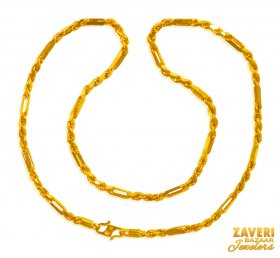 22 Kt Gold Cartier Rope Chain