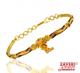 22K Bangle Bracelet with Meenakari