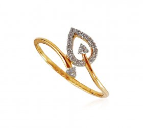 18K Ladies Genuine Diamonds Ring