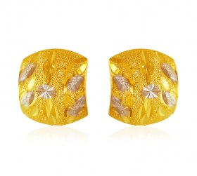 22kt Gold Two Tone Earrings ( Gold Clipon Earrings )