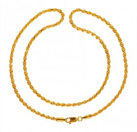 22kt Gold Rope Chain (18 Inches) ( Gold Fancy Chains )