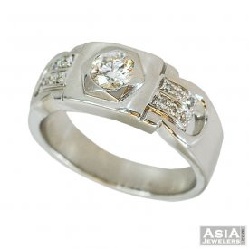 18K Mens Fancy Diamond Ring
