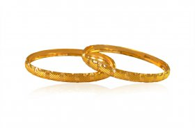 22k Gold Fancy Kids Baby Kada ( Baby Bangles )