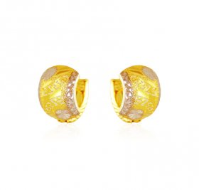 22Kt Two Ton Gold Clip On Earrings  ( Gold Clipon Earrings )