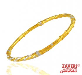 22 Kt Solid Ladies 2 Tone Bangle