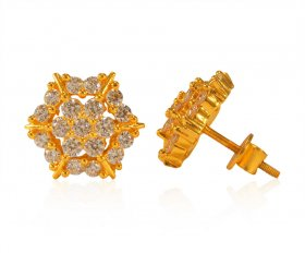 22K Gold Cubic Zircon Tops ( 22K Gold Tops )