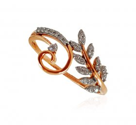 18Kt Rose Gold Diamond Ring ( Diamond Rings (Ladies) )