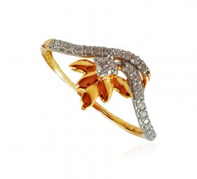 18kt Gold Diamond Ring For Ladies ( Diamond Rings (Ladies) )