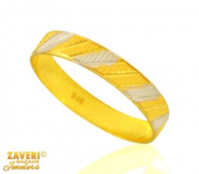 22 Kt Two Tone Gold Band