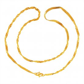 22kt Gold Fancy Chain ( Mens Gold Chain )