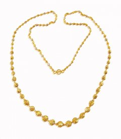Fancy 2 Tone Gold Chain ( Long Chains (Ladies) )