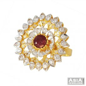 Designer Ruby Ring (22K Gold)