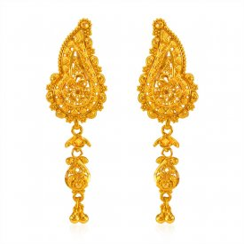 22KT Gold Traditional Earrings ( 22K Gold Tops )