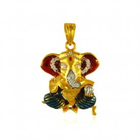 Ganesh Pendant (22K Gold) ( Ganesh, Laxmi, Krishna and more )