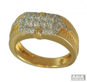 Mens Diamond Ring (18k)