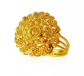 Floral Gold Ring ( 22K Gold Rings )