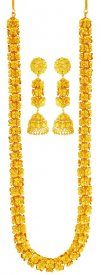 22K Gold Long Necklace Set ( 22K Necklace Sets (Long) )
