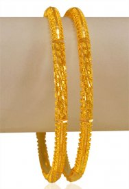 22kt Gold Filigree Bangles(2pcs) ( 22K Gold Bangles )