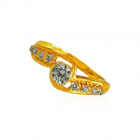 22kt Gold Signity Stones Ladies Ring