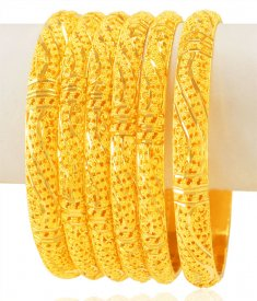 22Karat Gold Bangles Set (Set of 6) ( Gold Bangle Sets )