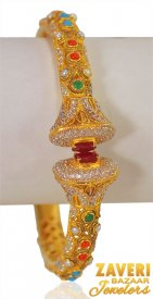 22K Gold Pakistani Style Kada ( 22K Antique Bangles )