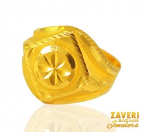 22kt Gold Mens Ring ( Men`s Rings )
