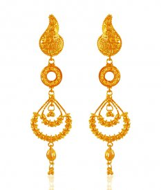 22karat Gold Long Earrings