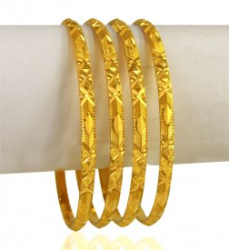 22 kt Gold Bangle Set (4 PC) ( 22K Gold Bangles )