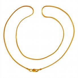 22 Kt Gold Ladies Chain (16 Inches) ( Plain Gold Chains )