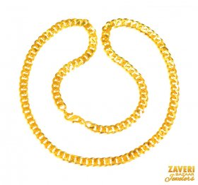 22KT Gold Men Chain 24 In ( Mens Gold Chain )