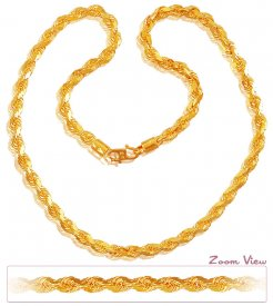 22k Gold Rope Chain (20In)