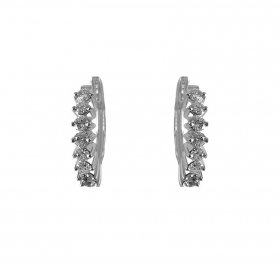 18K White Gold Diamond Earring ( Diamond Earrings )