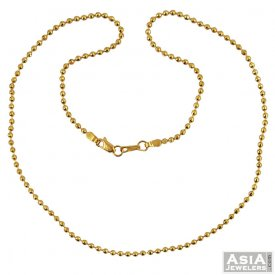 22k Fancy Gold Chain(16 inch) ( Plain Gold Chains )