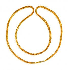 22K Gold Fox Tail Chain 20 In ( Mens Gold Chain )