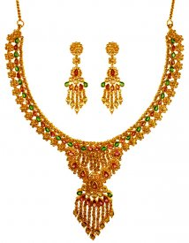 22K Polki Diamond Set ( Diamond Necklace Sets )