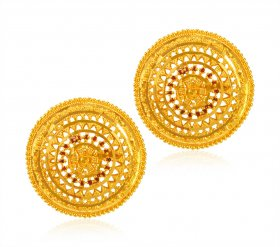 22 Kt Gold Ladies Earring ( 22K Gold Tops )