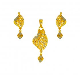 22karat Gold Two Tone  Pendant  Set