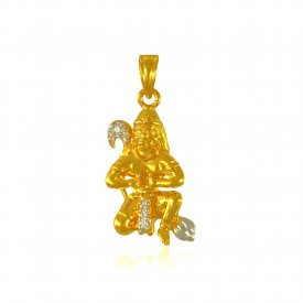 22K Gold Hanuman Pendant ( Ganesh, Laxmi, Krishna and more )